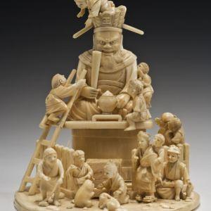 JAPANESE IVORY OKIMONO CHILDREN