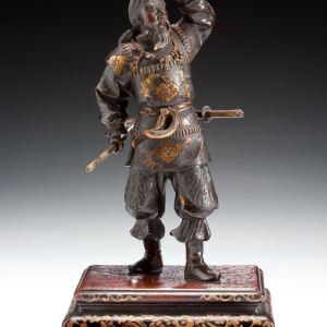 JAPANESE MIYAO BRONZE FIGURE OF A SAMURAI