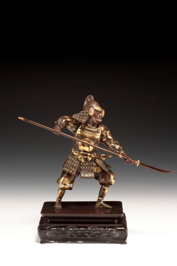 japanese-bronze-pikeman-antique-gyoko-