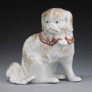 JAPANESE KUTANI FIGURE OF A DOG
