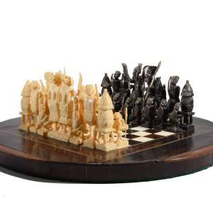 AFRICAN IVORY CHESS SET