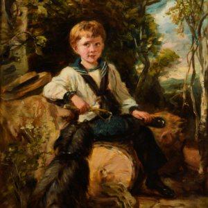 JOHN THOMAS PEELE-OIL PAINTING-PORTRAIT OF A BOY