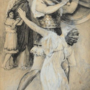WALTER PAGET-WATERCOLOUR PAINTING-A GREEK TRAGEDY