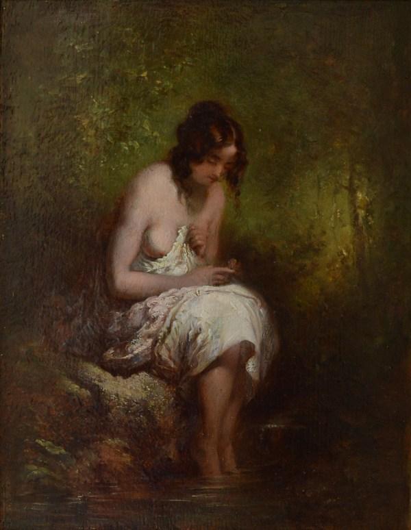 WILLIAM ETTY-OIL PAINTING-FEMALE NUDE