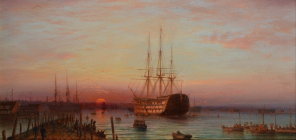 ISAAC WALTER JENNER-OIL PAINTING-HMS VICTORY PORTSMOUTH