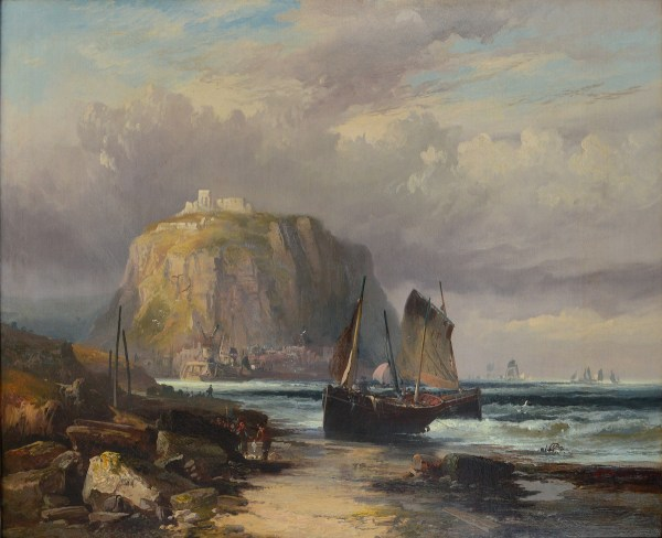 ROBERT ERNEST ROE-OIL PAINTING-LANDING THE CATCH