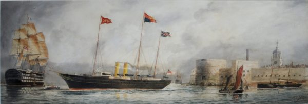 WILLIAM EDWARD ATKINS-WATERCOLOUR-HMY VICTORIA & ALBERT