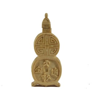 ANTIQUE CHINESE IVORY SNUFF BOTTLE
