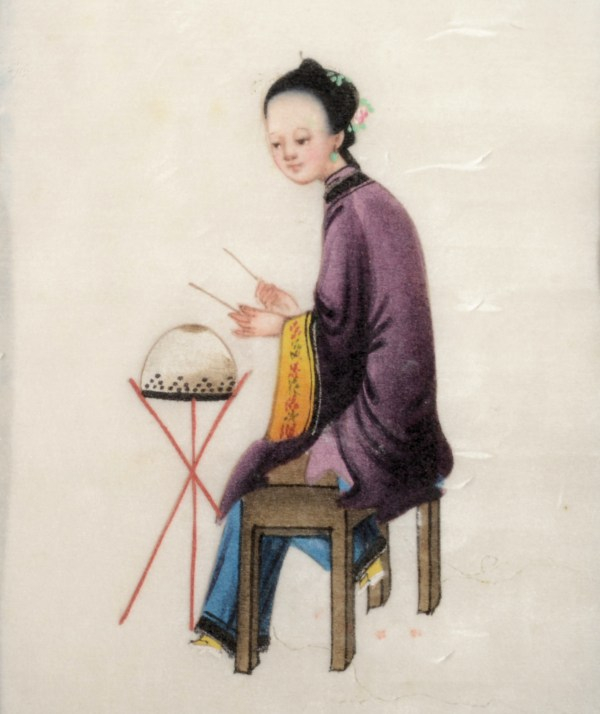 TWO ANTIQUE CHINESE BOOKS OF WATERCOLOUR PAINTINGS