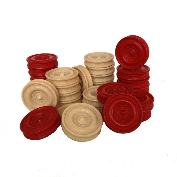 ANTIQUE BACKGAMMON COUNTERS FOR SALE IN UK