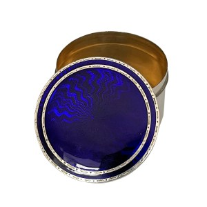 FIND ANTIQUE SILVER ENAMEL PILL BOX FOR SALE