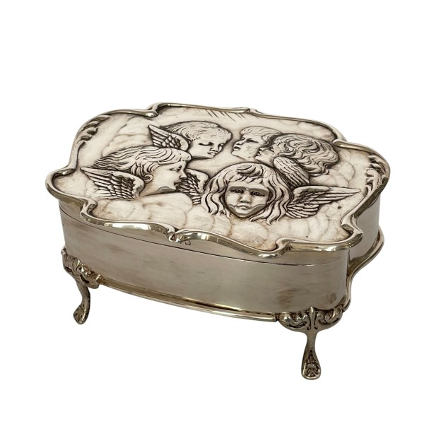 FIND ANTIQUE SILVER JEWELLERY BOX FOR SALE IN UK