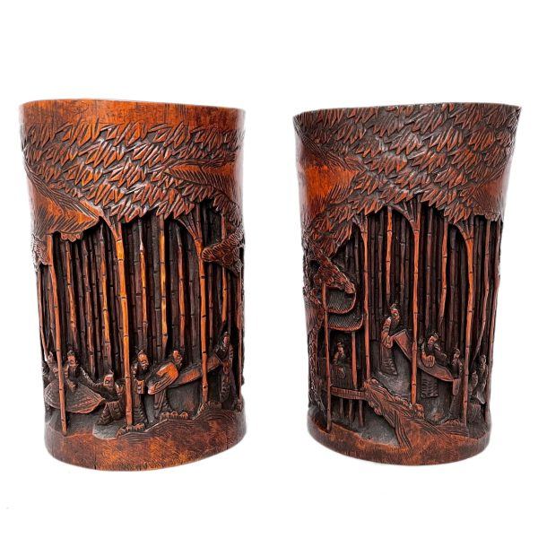 FIND ANTIQUE CHINESE BRUSH POTS FOR SALE