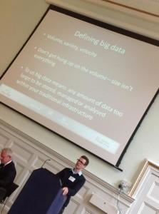 Dom Pollard discusses Big Data at LIKEideas (photo: Matthew Rees)