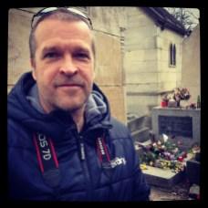 Me at Jim Morrison's Grave, Père Lachaise Cemetery