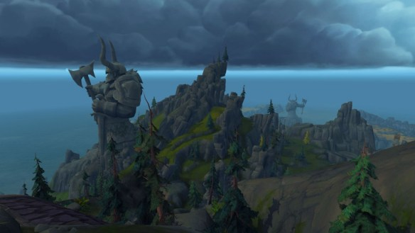Stormheim, home to Vrykul and many an impressive monument.
