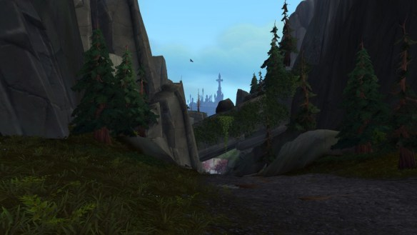 The new view distance makes it possible to see Dalaran from across the continent.