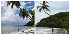 Alba on Playa Manzanillo, Providencia. 2007 and 2013