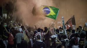 Demonstrations in Brazil courtesy of the Guardian
