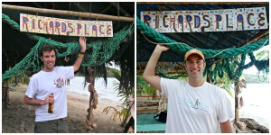 At Richard's Place in 2007 and 2013. 5 years older and 5 years heavier!