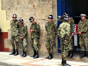 And there were extra members of the Guardia Presidencial out and about