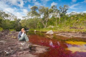 Out on assignment writing about Cano Cristales in Colombia