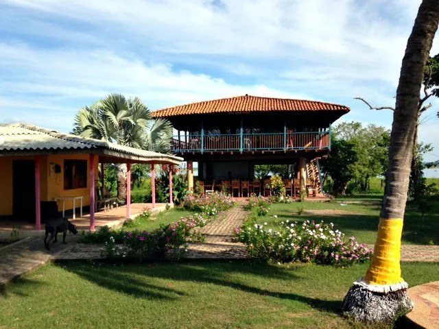 The main house on Isla Verde