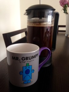The trusty french press. Two babies, very different, one red-letter week in April