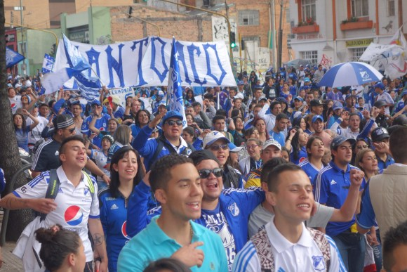 for the most part the Millonarios march was a good-natured celebration