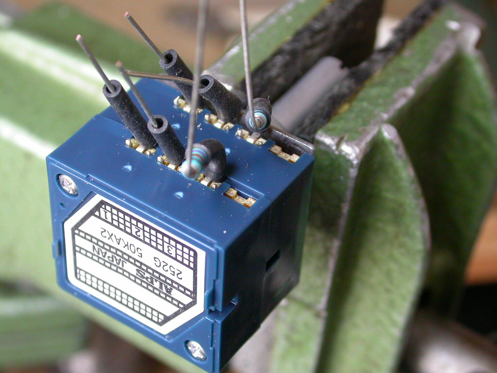 How To Replace The Volume Control On An Audio Research Sp8 Potentiometer Wiring Diagram Stereo Controls Alps Replacement Prepared With Flying Leads