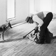 I like america and America likes me. Beuys together with a coyote, a symbol of native America.
