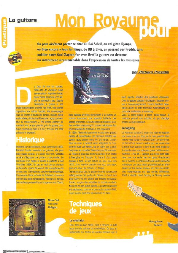 Micro et musique - juin juillet 1998