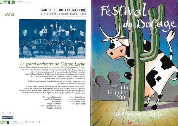 Le grand orchestre de Gaston Lorho - Festival du Bocage - 10 juillet 2004
