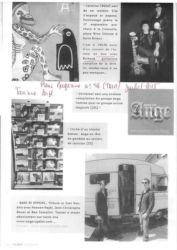 Fanzine ange plouc magazine - n°58  juillet 2015