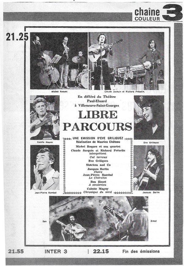 Libre Parcours - Télé 7 jours - janvier-1975
