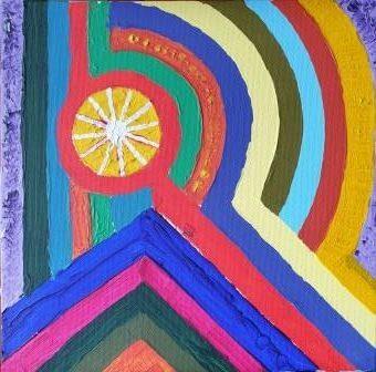 Acrylic multicoloured R
