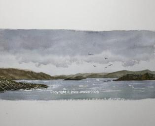 Islay and Jura watercolour painting