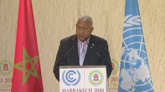 Fiji's Frank Bainimarama takes a leadership role on Climate Change