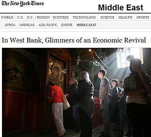 West Bank economic 'miracle'