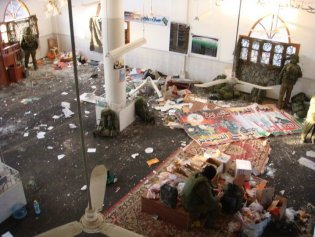 gaza mosque trashed during cast lead