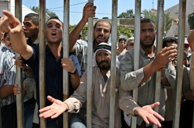 gazans demand jobs