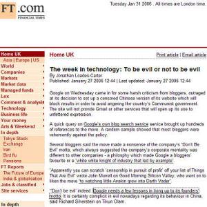 Tikun Olam Linked in Financial Times Blog Roundup
