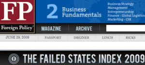 Israel 58th on Failed State Index