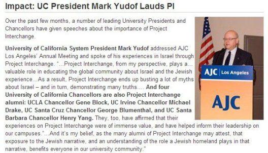 uc chancellors join israel junket