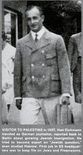eichmann in palestine 1937