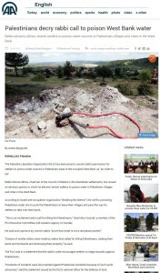 Story Claiming West Bank Rabbi Endorsed Poisoning Palestinian Wells Likely Zio-Hoax