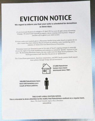 nyu palestine eviction notice