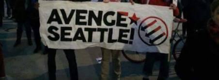 antifa protest banner