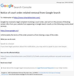 Google Censors Tikun Olam Based on Secret Israeli Court Order