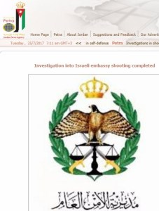 Official Jordanian Account of Killings by Shin Bet Agent Dramatically Contradicts Israel's